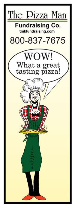 Pizza Man Fundraising Banner