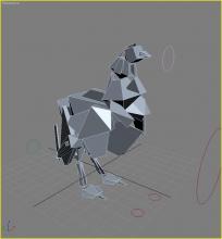 3D Model Chicken Rig