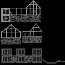 3D Model Elizabethan House Bump Map