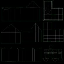 3D Model Elizabethan House UVW