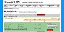 Freight Master Shipment Detail Screen